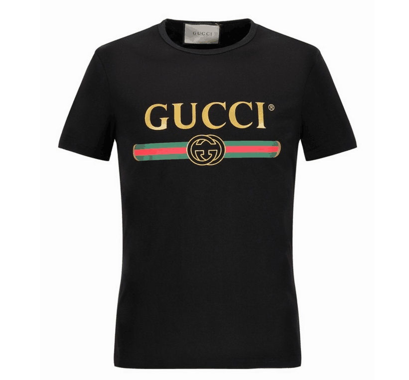 Gucci short round collar T shirt Wmn Black