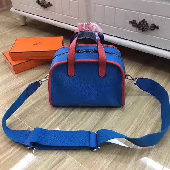 Hermes Bag Travelling Bag Blue