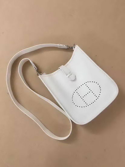 Hermes Bag Evelyne White