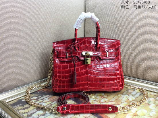 Hermes Bag Birkin Alligator BK2225 Red