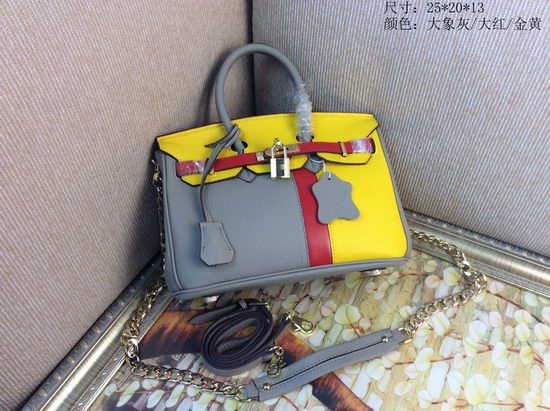 Hermes Bag Birkin Yellow/Grey
