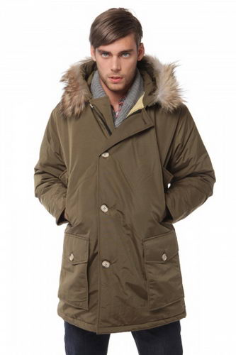 Woolrich Down Parka W05 Mens Arctic Anorak Chocolate