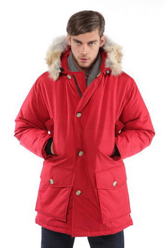 Woolrich Down Parka W05 Mens Arctic Anorak Red