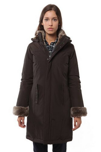 Woolrich Down Parka W06 Wmns Luxury Boulder Chocolate