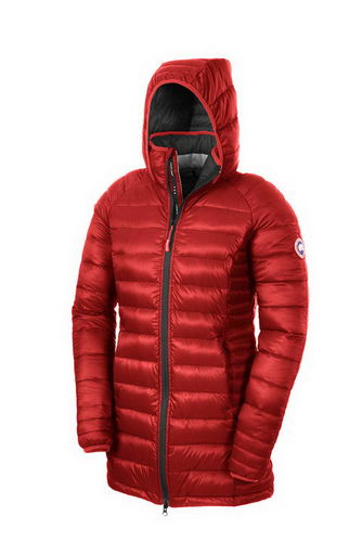 Canada Goose Jacket 2017 Wmns BROOKVALE HOODED COAT Red