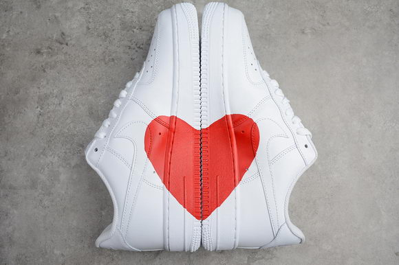 Nike Air Force 1 Low Top X Red Heart Unisex