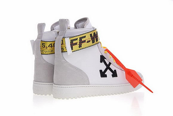 Off-white Arrows High Top Sneakers Unidex White