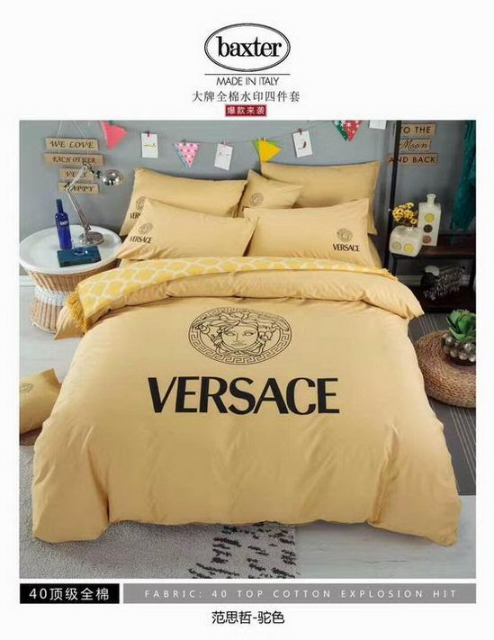 Versace four pieces beddings ID:20190403a11