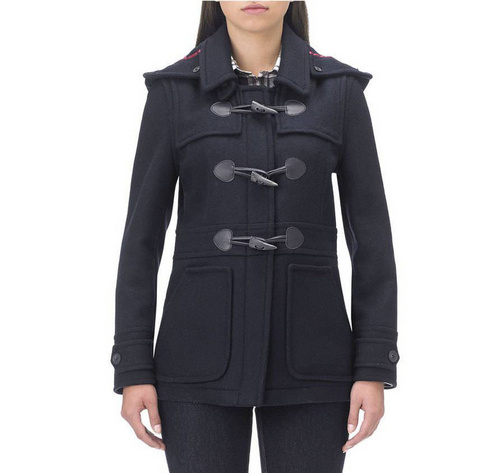 Barbour Wool Buttermere Duffle Coat Wmns ID:202009d119