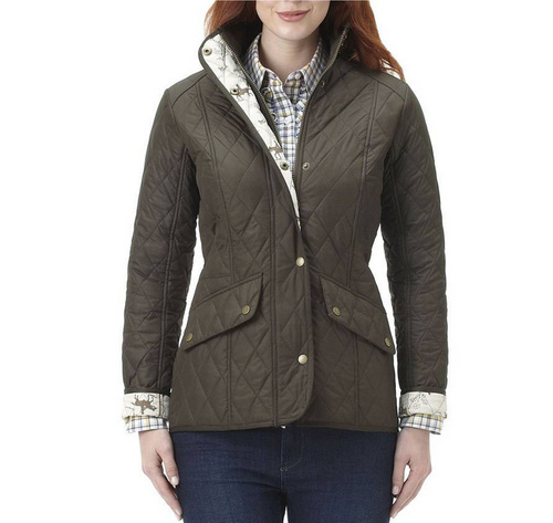 Barbour Horse Print Cavalry Quilted Jacket Wmns ID:202009d43