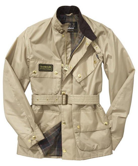 Barbour A7 Brass Jacket Stone Mens(L)