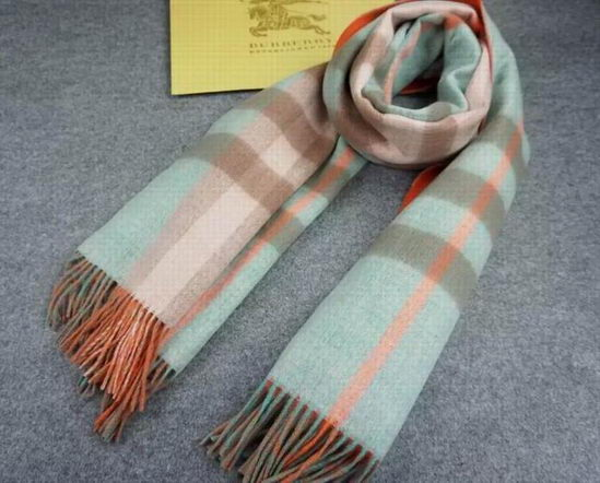 Burberry Checked Long Scarve Orange