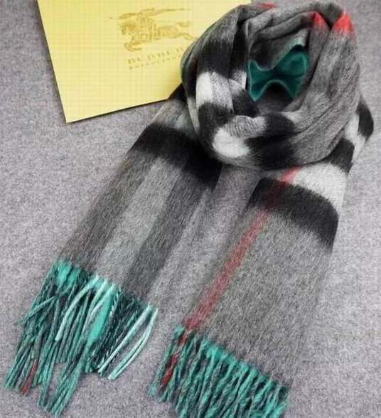 Burberry Checked Long Scarve Blue