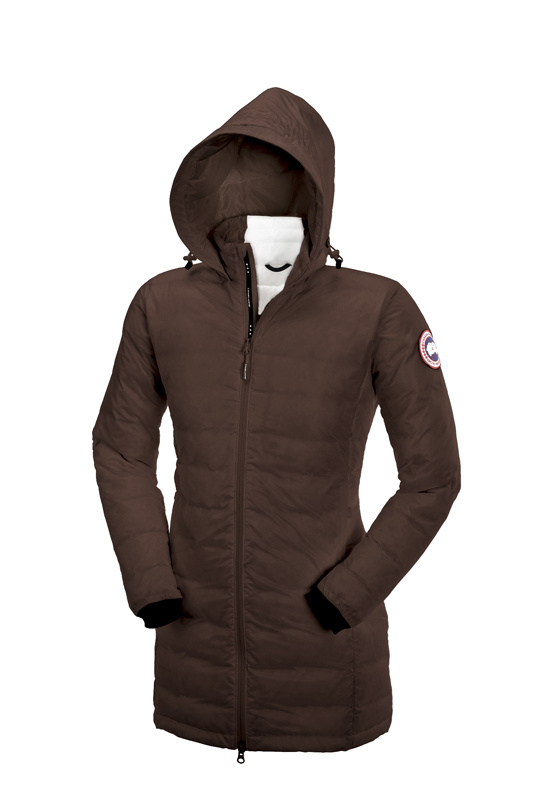 Canada Goose Camp Hooded Jacket Brown Wmns