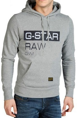 G-Star Raw G Hoodie Grey Mens
