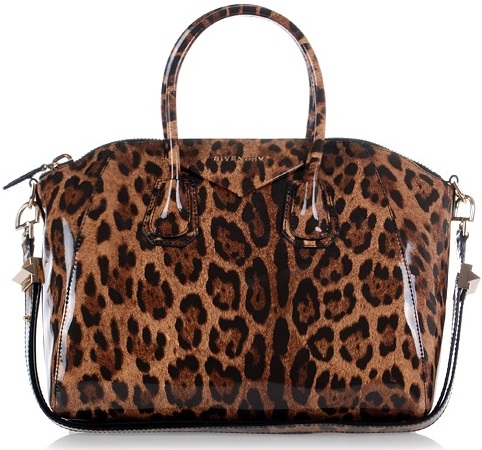 Givenchy Antigona Bag Cheetah Brown