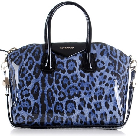 Givenchy Antigona Bag Cheetah Blue
