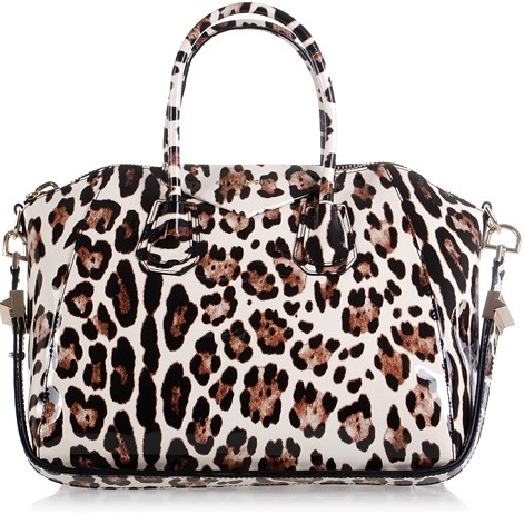 Givenchy Antigona Bag Cheetah White