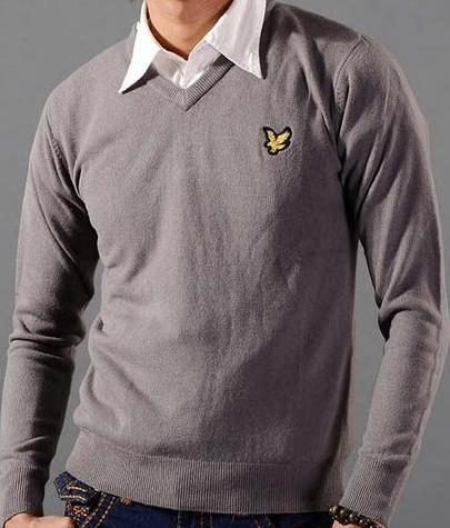 Lyle & Scott V-Neck Dark Grey Mens