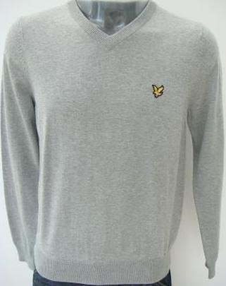 Lyle & Scott V-Neck Grey Mens