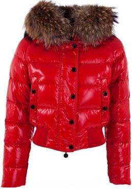 Moncler Alpes Jacket Red Wmns