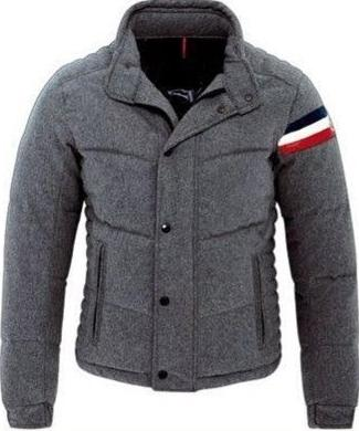 Moncler Chartreuse Jacket Grey Mens