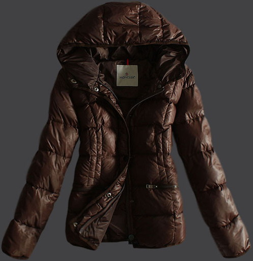 Moncler Classic Hood Jacket Brown Wmns