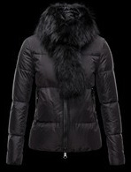 Moncler Fur Jacket Black Wmns