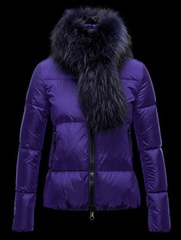 Moncler Fur Jacket Purple Wmns