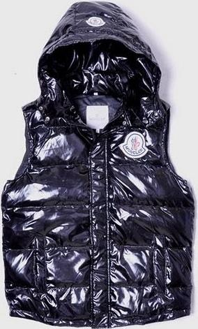 Moncler Hooded Vest Black Mens(M)