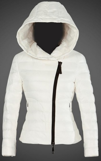 Moncler Ilay Hooded Jacket White Wmns
