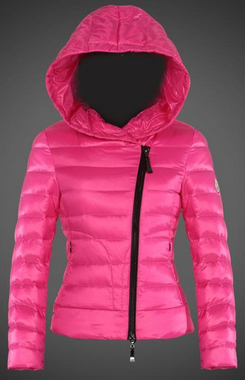 Moncler Ilay Hooded Jacket Pink Wmns
