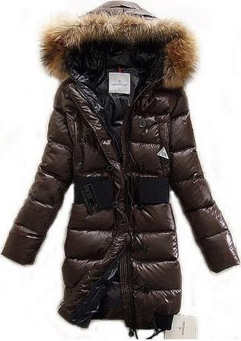 Moncler Jacket Lucie Brown Wmns