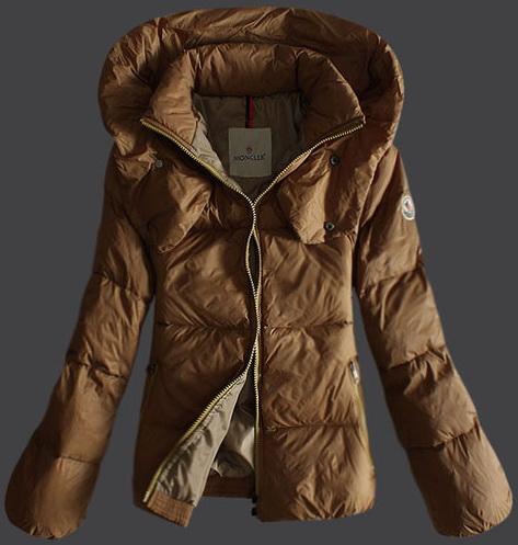 Moncler Pillow Collar Down Jacket Beige Wmns