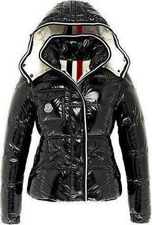 Moncler Quincy Jacket Glossy Black Wmns