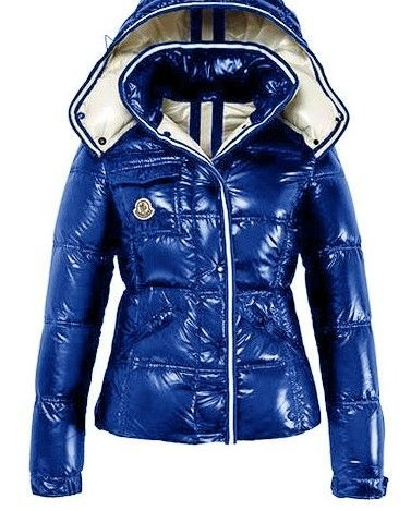 Moncler Quincy Jacket Glossy Blue Wmns