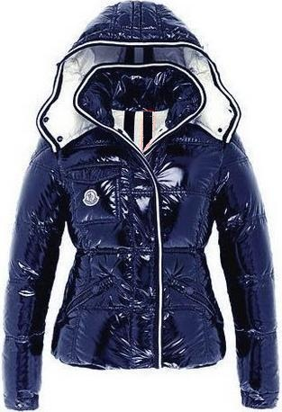 Moncler Quincy Jacket Glossy Navy Wmns
