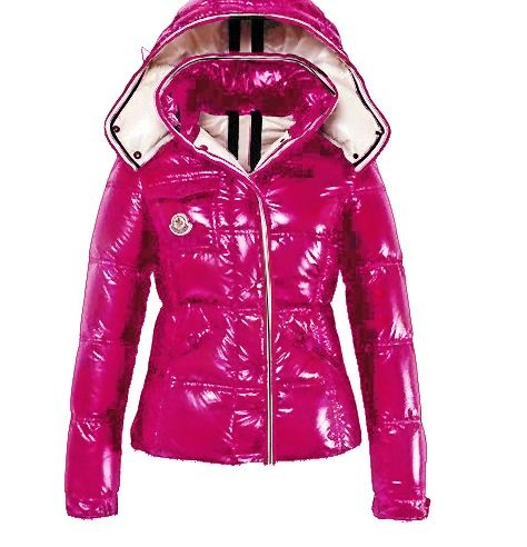 Moncler Quincy Jacket Glossy Pink Wmns
