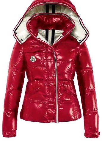 Moncler Quincy Jacket Glossy Red Wmns