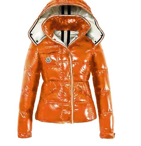 Moncler Quincy Jacket Glossy Orange Wmns