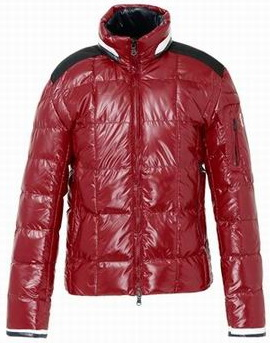 Moncler Stripe Jacket Red Mens