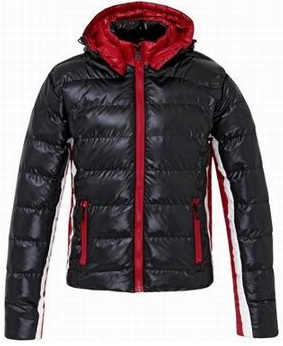 Moncler Striped Arm Jacket Black Mens