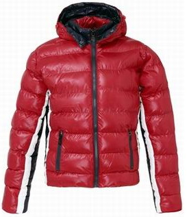 Moncler Striped Arm Jacket Red Mens