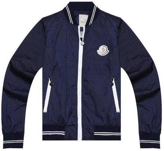 Moncler Wind Jacket Navy Mens