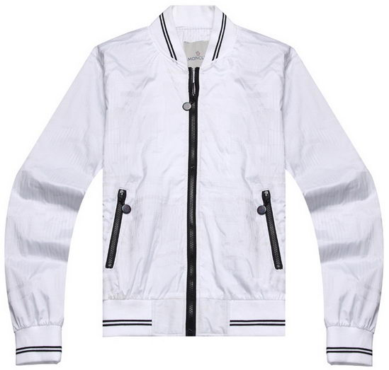 Moncler Wind Jacket White Mens