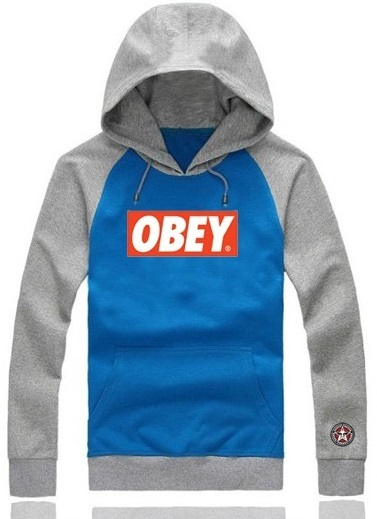Obey Hoodie Classic Blue/ Grey Mens