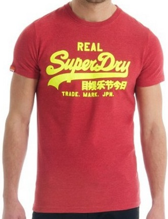Superdry T-Shirt Real Red Mens
