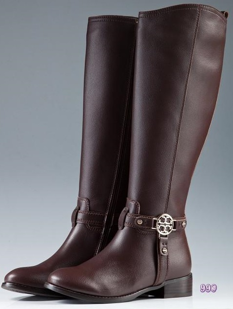 Tory Burch Flat Boots Chocolate