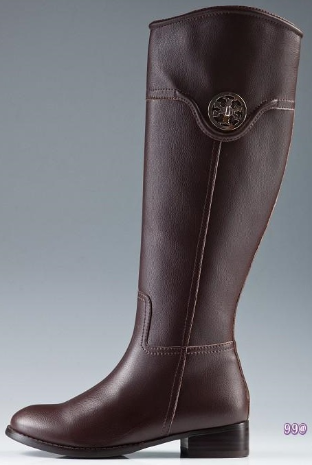 Tory Burch Flat Riding Boots Chocolate