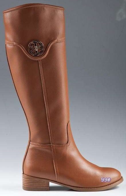 Tory Burch Flat Riding Boots Brown